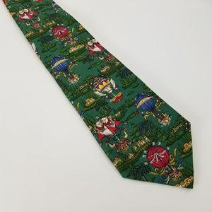Salvatore Ferragamo Men's Hot Air Green Tie